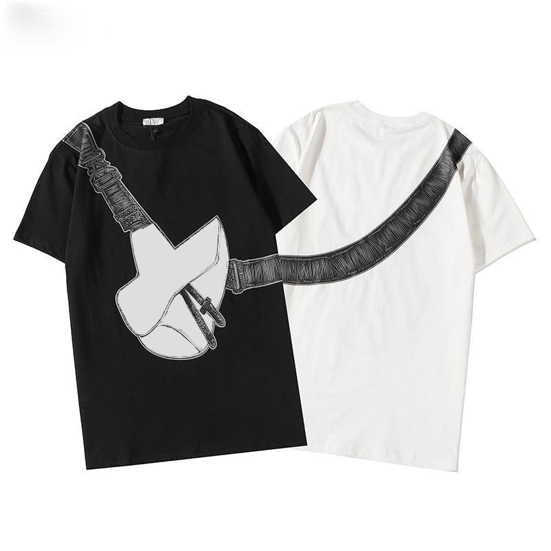 최고 품질의 패션 디자이너 새로운 컬러 박스 로그 크루 넥 티셔츠 여름 새로운 남성 여성 티 힙합 캐주얼 티셔츠