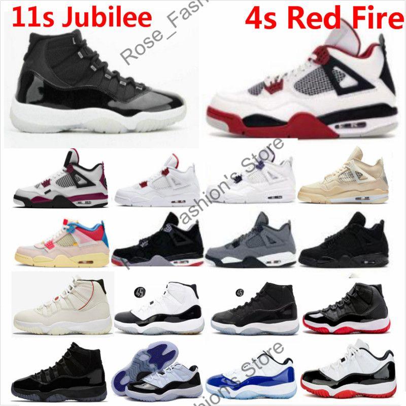 11 Jubilee Basketbol Ayakkabı 11'leri 25. Yıl Space Jam CONCORD'un Win gibi 82 Orta Lacivert kırmızı ateş siyah kedi Erkekler Kadınlar Sneakers 4s
