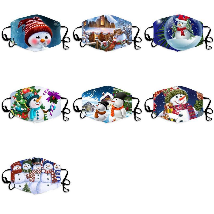 Рождественская маска дизайнерские маски забавные пользовательские факсимические маски рождественские украшения для взрослых лицевые маски Maccherina Reousable Mask