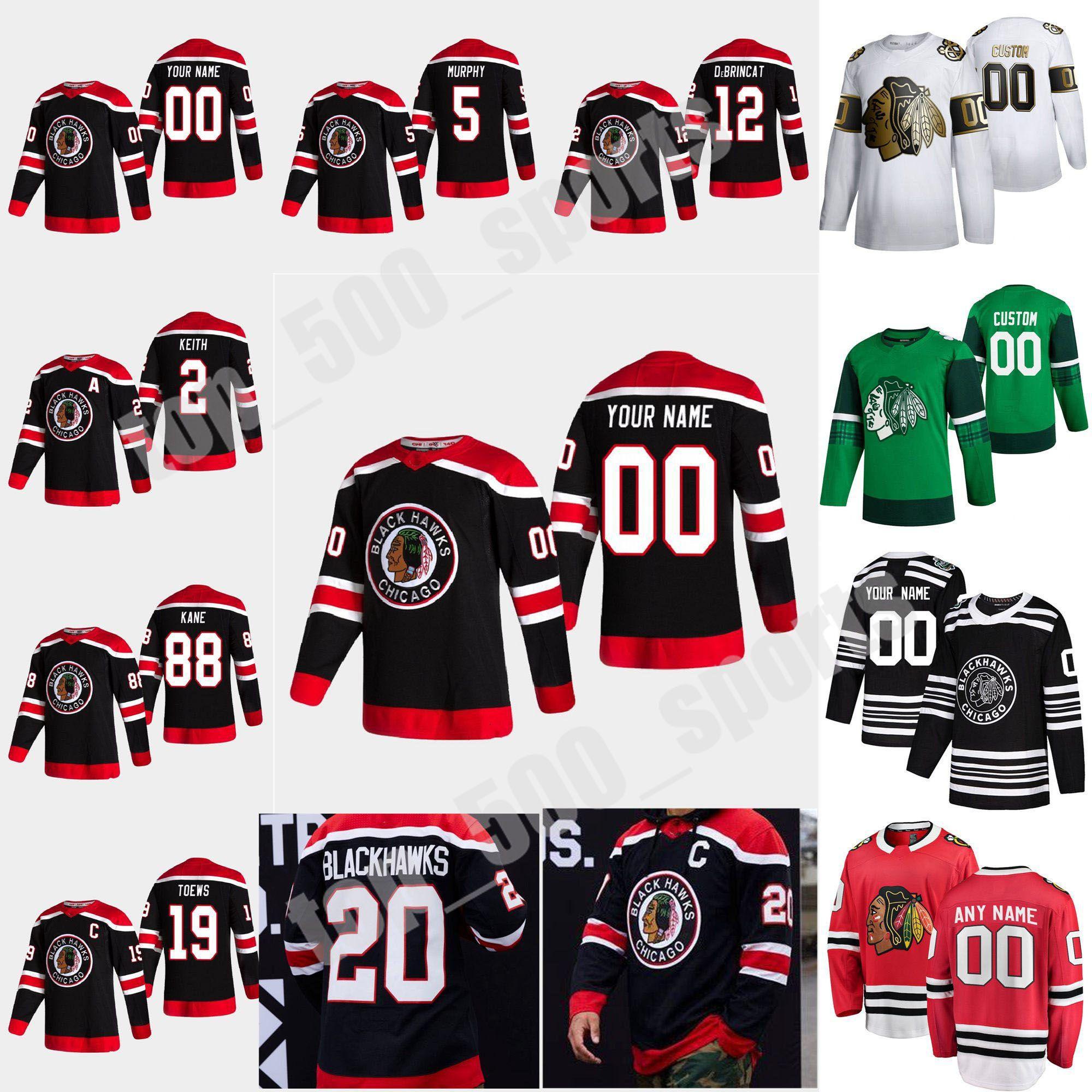 시카고 BlackHawks 2021 Reverse Retro Hockey Jersey 30 Cam Ward Ryan Carpenter Kirby Dach Mackenzie Entwistle Matthew Highmore 사용자 정의 스티치
