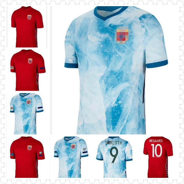 nuova 20 21 RE 7 maglie di calcio 2020 2021 noruega Haaland Ødegaard Berge Re camisetas de fútbol Nazionale di calcio Uniformi Thailandia