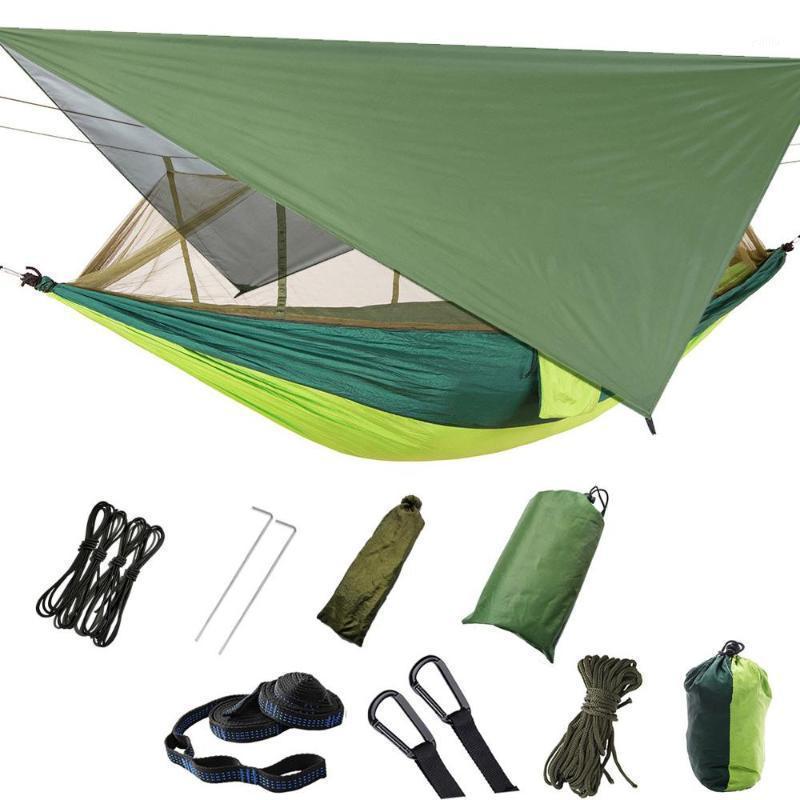 Tente de hamac de Lixada avec moustiquaire Tentes de camping de moustiquaire Hammock Net Lightweight Nylon Portable pour Sac à dos Camping1