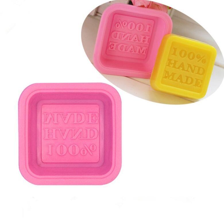 100% Handmade Sabonete Molds DIY Square Silicone Moldes de cozimento Molde artesanato artesanato Fazer ferramenta DIY Bolo Molde W110