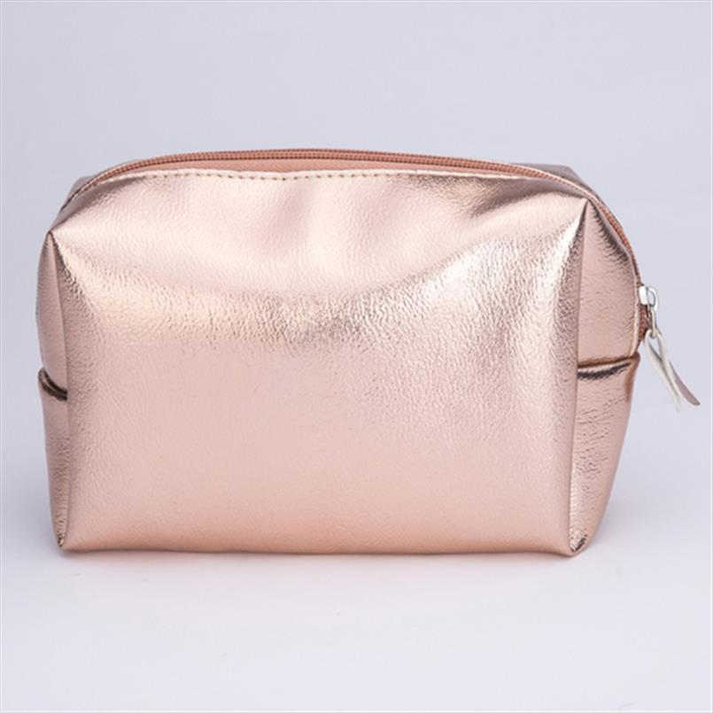 Bolsa de oro Bolsa de oro Bolsa de maquillaje Belleza de la belleza Invierno de la belleza Maquillaje de bolso Organizador Zipper Cosmetic Bolsas de almacenamiento Caja de la caja Uwxuk