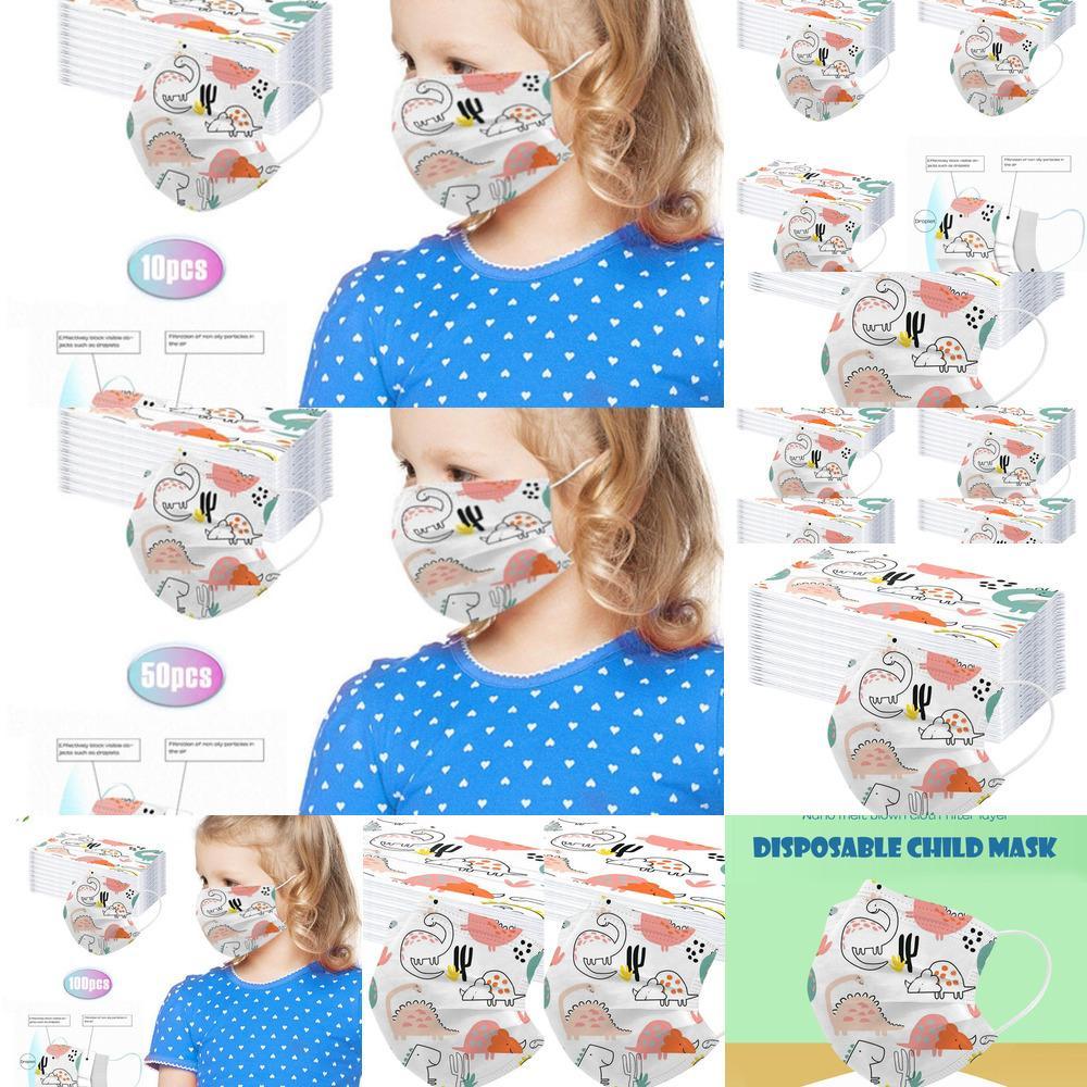 Face-Masks Halloween Cartoon Mascarillas Descartáveis 10/50 / 100 pc Moda Moda Mondkapjes Wasbaar Kids Cosw1