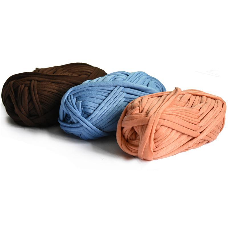 100g / ball spessa del panno del tessuto Striscia Filato del mestiere per mano maglieria all'uncinetto fai da te Cuscino Coperta panno Striscia per borse C1030