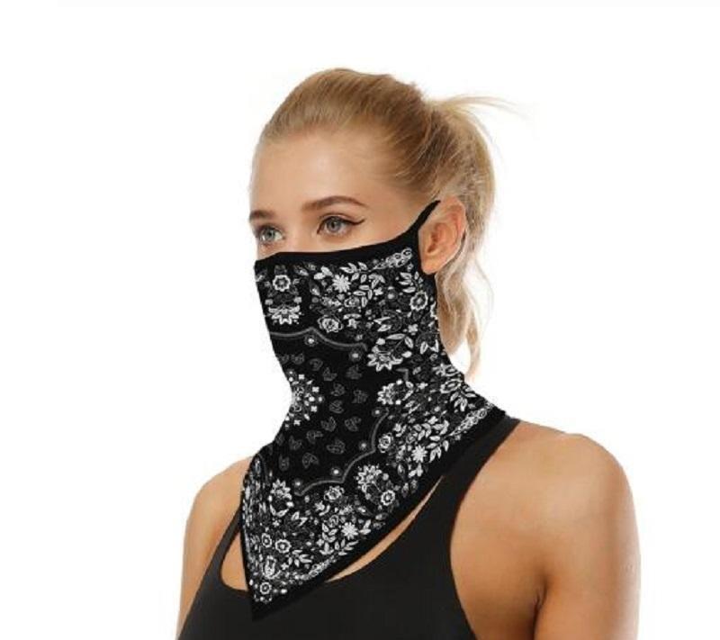 Copertura del viso all'aperto Maschera da ciclismo Fashion Stampato Bib Sciarpe Multi Funzionale Seamless Seaml Secco Caparro Capannone Capanna Capanna Bandana Bbyuzwc