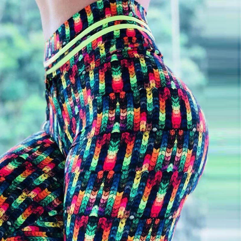Женщины Новая печать гетры Push Up Эластичные брюки высокой талии Legging Нет Transparent Фитнес Jeggings дышащие брюки Леггинсы