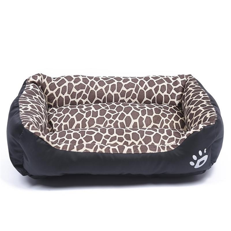 10-Color Paw Dog Nest Automne Et Hiver Square Square Canapé pour animaux de compagnie Lit de chien étanche Fourrure douce Fourrure chat chaude Chare Lit de chat Nid Dog Fournitures 201125