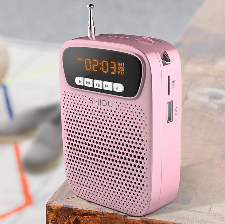 S278 Портативный проводной голосовой микрофон FM-радио Aux Аудиозапись диктор Bluetooth