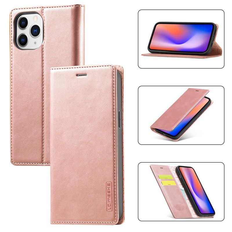Custodie per cellulari in pelle retrò magnetica in pelle per iPhone 13 12 11 Pro XR X XS Max 7 8 6s Plus Samsung Galaxy S21 S20FE Nota20 Ultra DHL