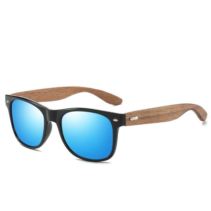 Мужские солнцезащитных очков, солнечных очков конструктора Вуд кадр поляризованного вождение очков Защита от ультрафиолетовых лучей моды женщин роскоши дизайнерских солнцезащитных очков