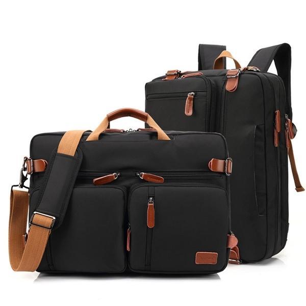 17 Inch Convertible Briefcase Men Business Handbag Messenger Bag Casual Laptop Multifunctional Travel Bags For Male Big XA161ZC Q1104