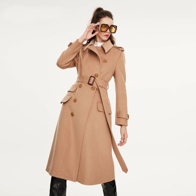 Cappotto di lana invernale Donne moda classico soprabito donna cappotto di lana spesso elegante giacche lunghe streetwear