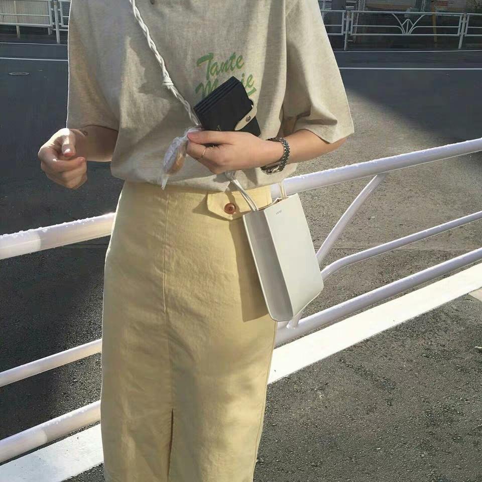 2020 ins quadrados novo estilo coreano Ombro pequeno quadrado de tecido super-saco do mensageiro do ombro cor sólida moda das mulheres quentes de Mulheres pequeno saco D
