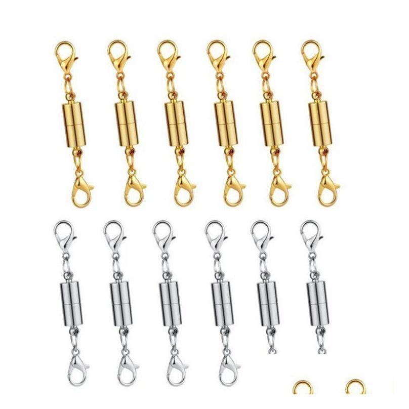 Новый серебристый / позолоченный магнитный магнитный колье ожерелье браслет Clasps Classplind Classs для ожерелья браслет ювелирные изделия DIY лучшее качество EW1BS