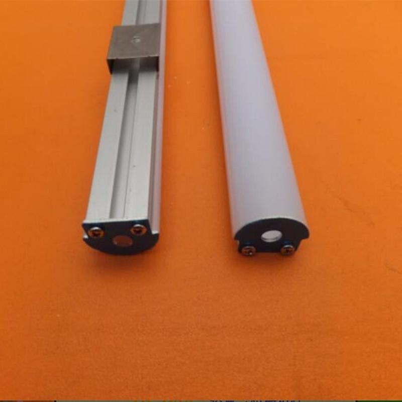 Profilo di alluminio rigido della barra rigida della striscia del LED di trasporto libero per la decorazione con coperchi e tappi di estremità smerigliati
