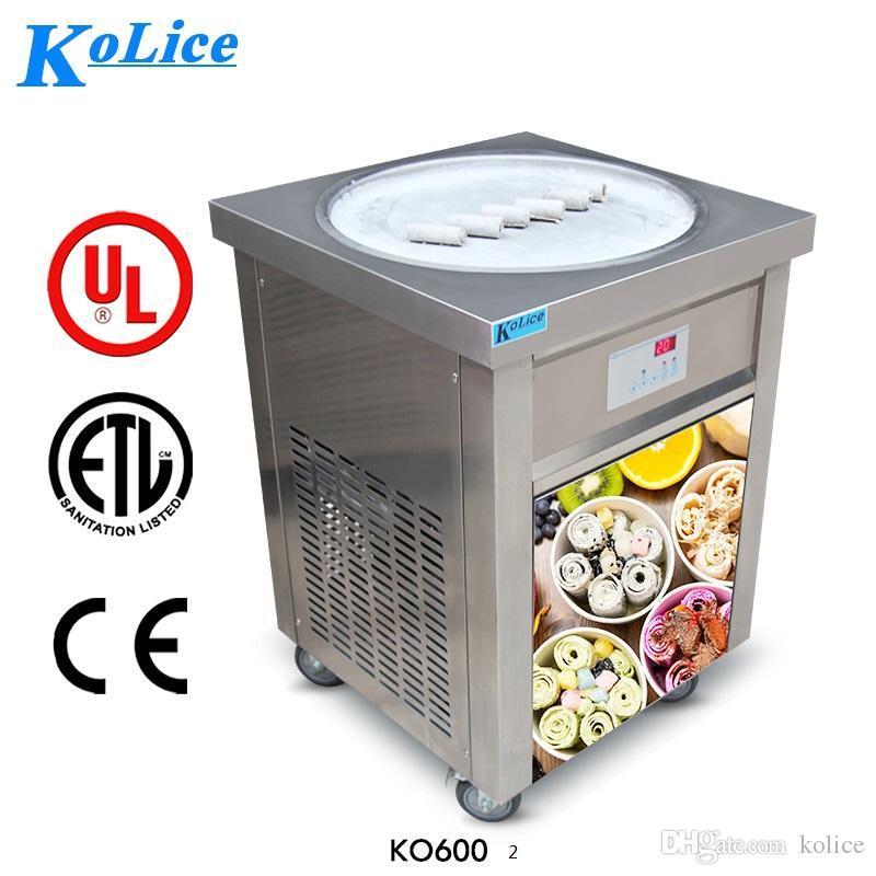 Commercial ETL CE 22 Zoll Runde Pan Thai EiCreme Rolle Maschine Instant Fry Eismaschine Gebratene Eismaschine