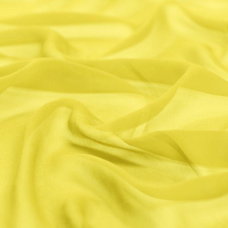 """100% pura seta georgette 8 millimetri 114 centimetri 45"""" di larghezza brillante tessuto di seta di colore giallo per il vestito di gelso, NO.10 camicia"""