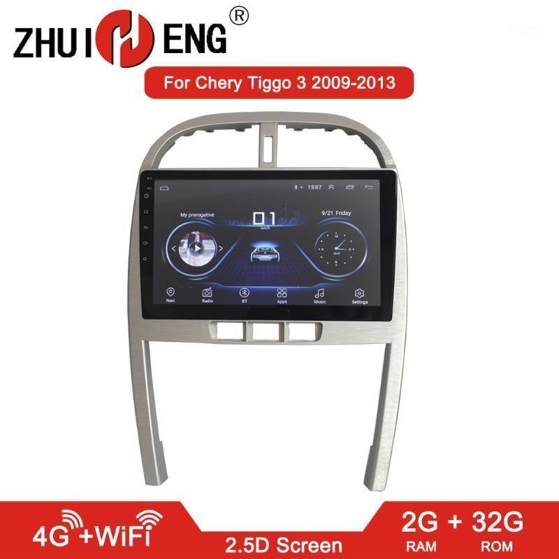 자동차 DVD 플레이어 Zhuiheng 2g + 32g 안드로이드 8.1 chery Tiggo 3 2009-2013 GPS Navi 액세서리 4G 멀티미디어 플레이어 1