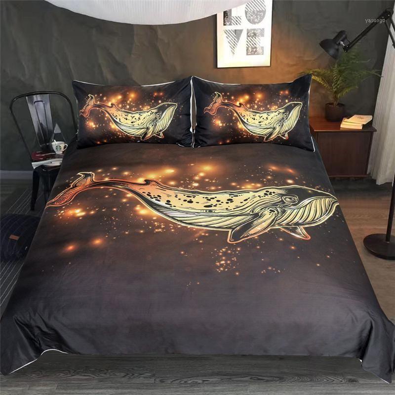 Постельное белье Set Queen Red Golden Lucky Fish Doughet Cover Набор красочных Крышка одеяла 3 шт. Благоприятные постельное белье1