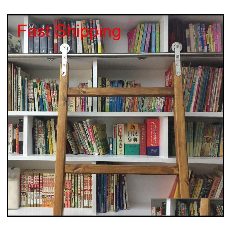 الفولاذ المقاوم للصدأ انزلاق مكتبة مكتبة الأجهزة انزلاق حظيرة سلم مكتبة سلم الأجهزة f qylobn bde_luck