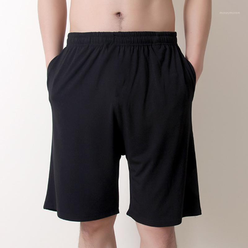 Men's Sleepwear Men's Summer Casual Loose Elastic Waist Trousers Lightweight Yoga Pants Shorts Pure Cotton Five-point Pajama1