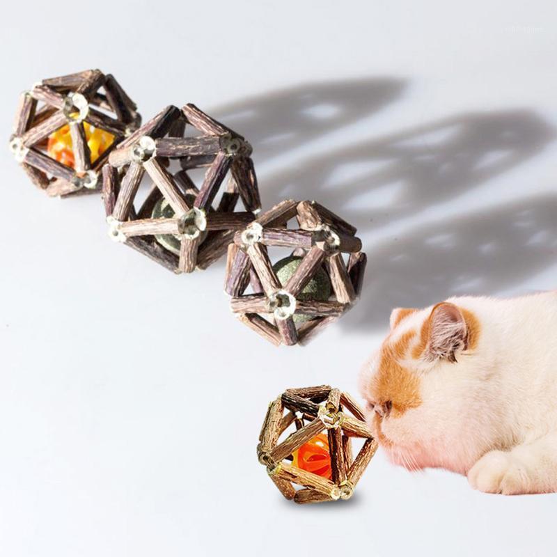 Cat Toys Silvervine Toy Hollow Denti Pulizia dei denti Catnip Cats Bell Ball Denti Pet per rifornimenti1