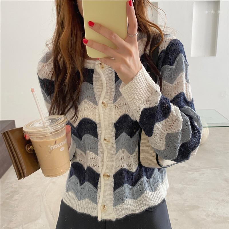 New Oversize Mulheres Camisolas Outono Vintage Cardigans Loose Winter Sweater Mulheres de malha Plus Size Cardigan Knit Button1