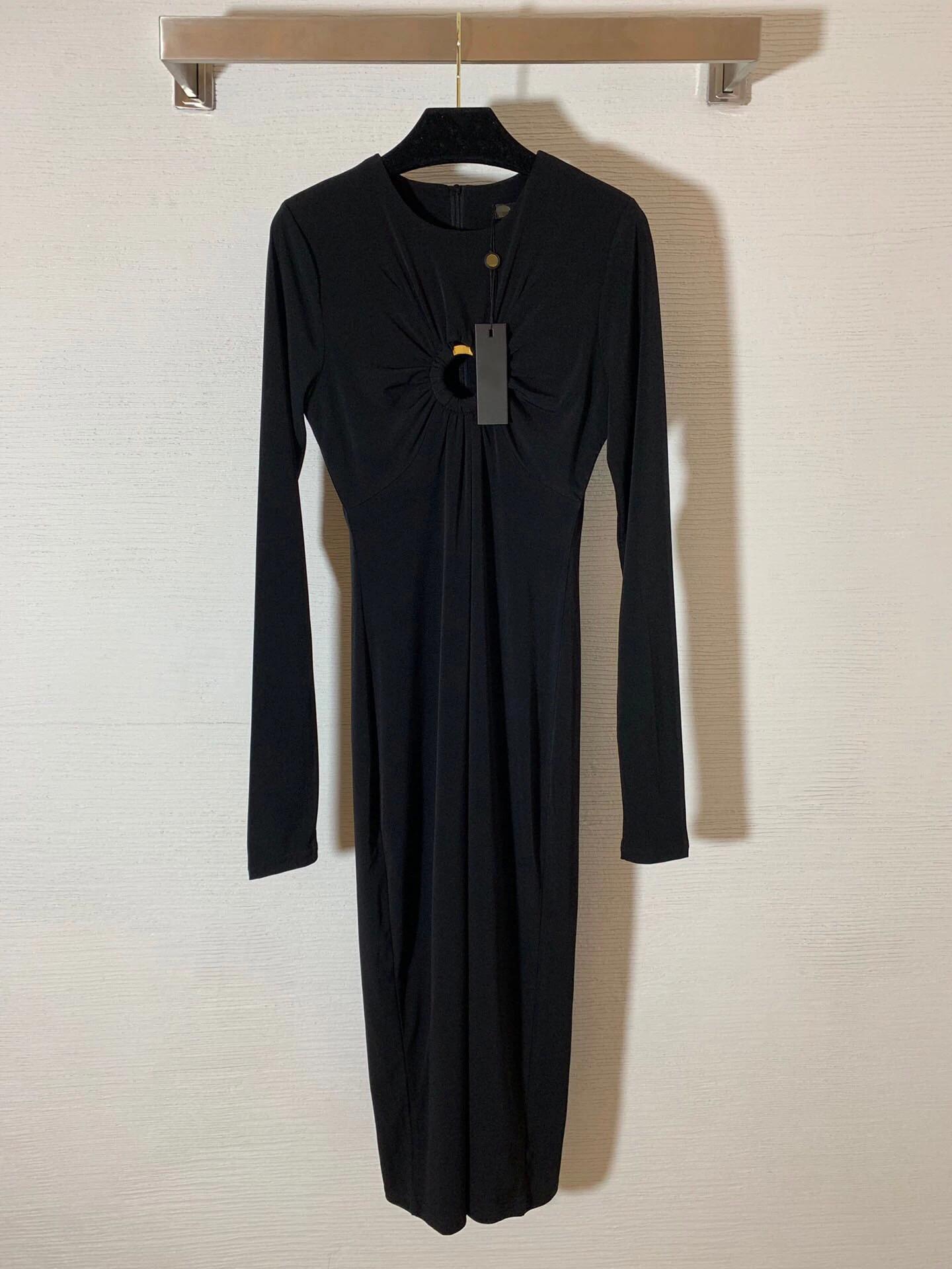 2021 Runway Dress Frühling Sommerkleid Marke Gleiche Stil Empire Sexy Black Womens Kleid Mode Hohe Qualität Nishi