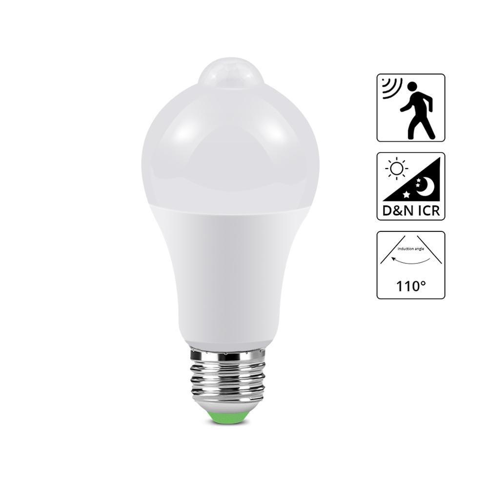 6W 7W 9W 12W 15W Bewegungs-Sensor-LED-Birnen-Lampe für Treppen Korridor 110V 220V Aisle Tür Infrarot-Induktions-LED-Nachtlicht-Sensor-Lampe