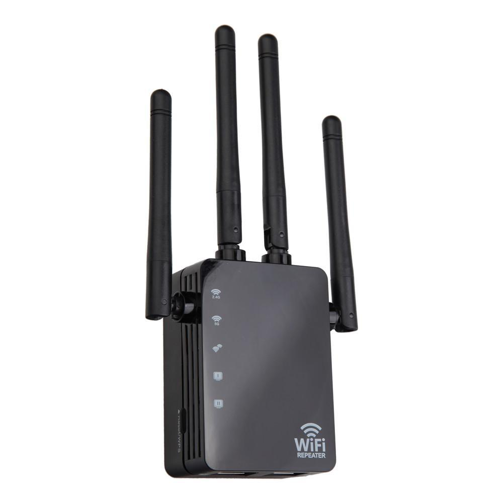 1200Mbps Wifi Repeater Dual Band AC 2.4G / 5G Bridge Connection Signal Amplifier For Router PC Laptop Mobile phone Net Work
