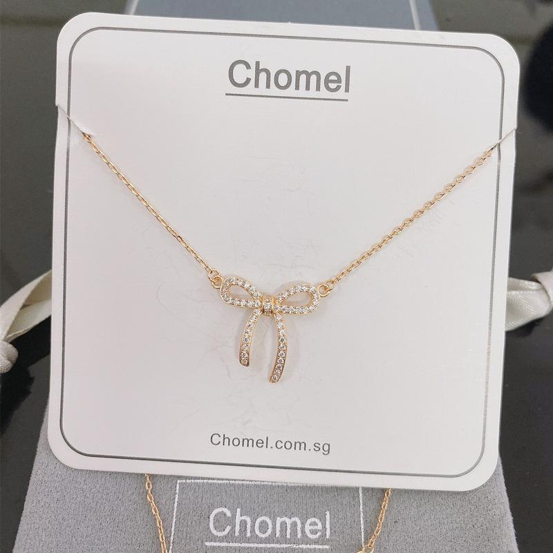 Cingapura minoria Chomel Colar deusa temperamento jóias S925 prata Nacional necklacebutterfly necklacezircon arco clavícula c