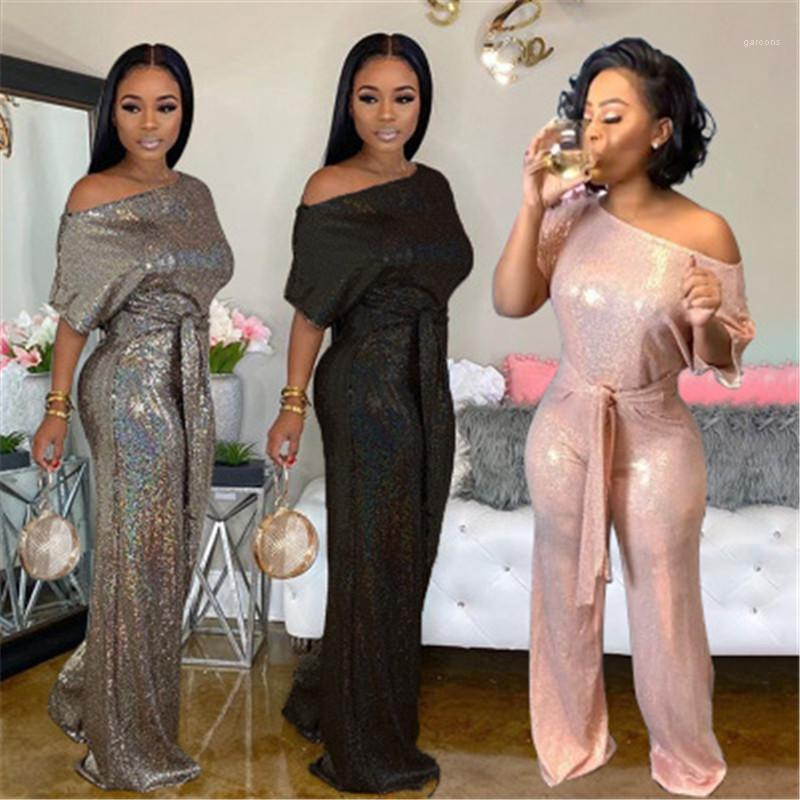 Tulum Moda Trend Şık Senfoni Casual Gevşek Bayanlar Tulumlar Tasarımcı Kadın Kısa Kollu Pantolon tulum Kadınlar Lazer Payetler