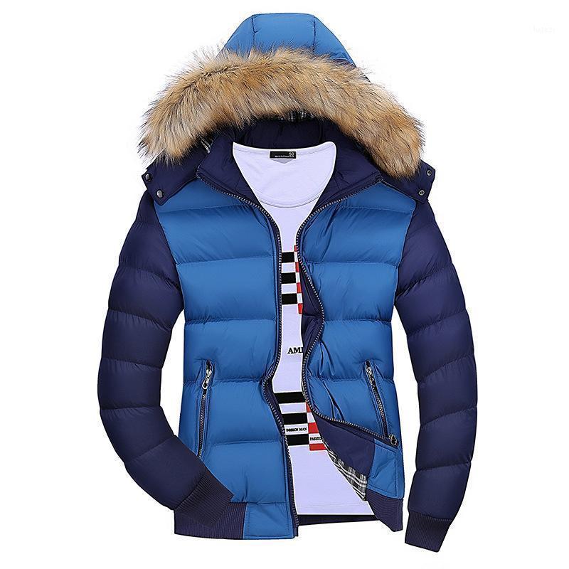 Giacca invernale per uomo caldo cotone cotone colletto maschile con cappuccio casual casual moda spessa cappotto parkas tuta sportiva1