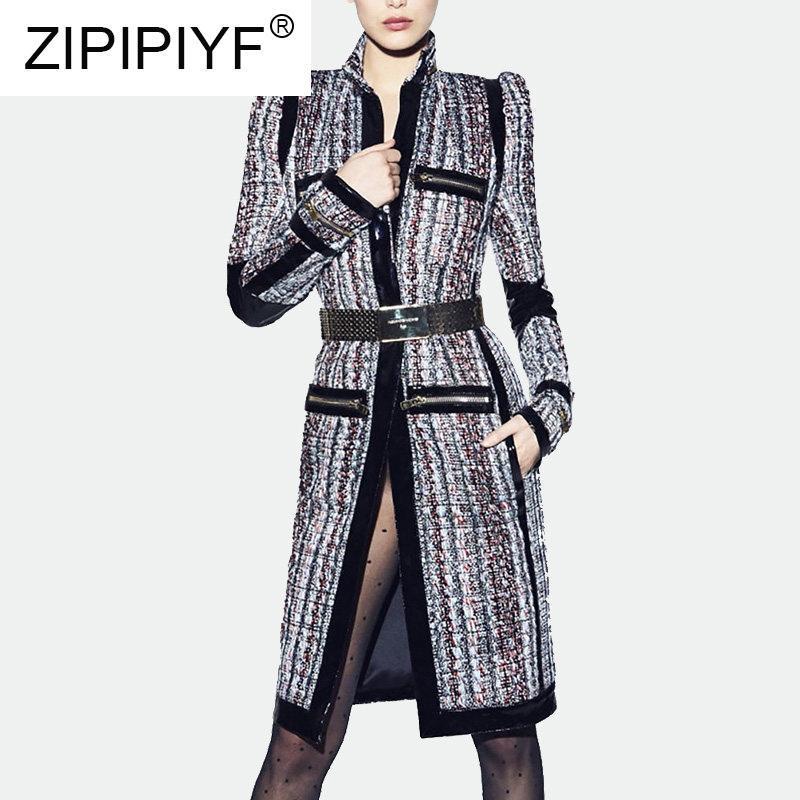 Damskie płaszcze płaszcze wierzchniej jesień / zima 2021 odzież moda socjalik-szary płaszcz C1949