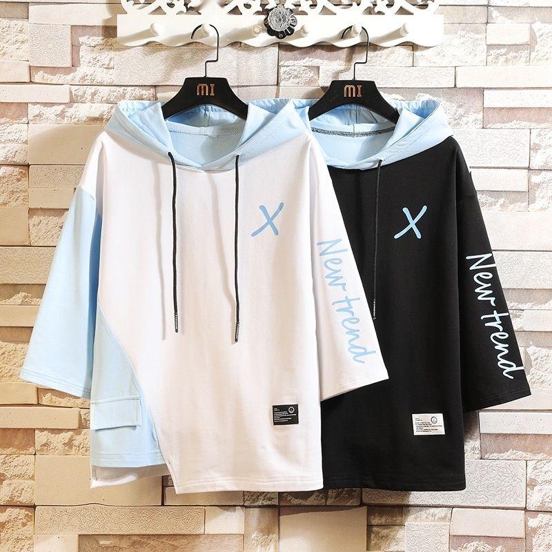 Grandes chalecos otoño invierno 2020 se unen a 7 Escudo sweatervest sweater4 manga suéter encapuchado de la capa suelta de los hombres gordos de los hombres suéter OHUFe