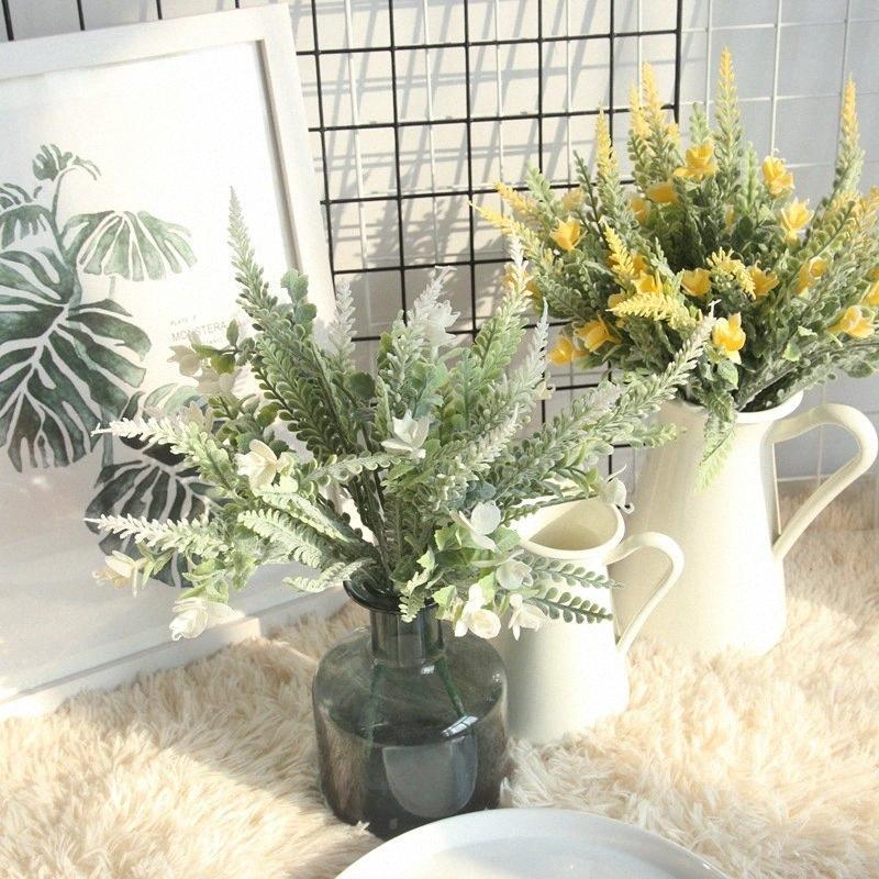 35см Искусственные цветы початков кукурузы Имитация зерна Рассада Пэдди Фиктивный Пластиковые цветок для украшения венчания jwiT #