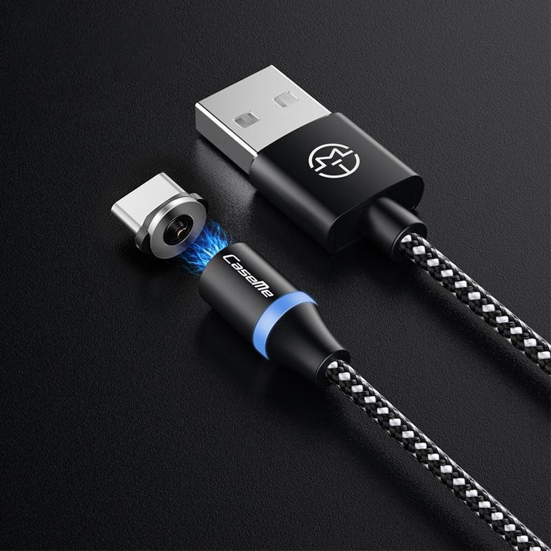 CaseMe Série 2 USB à USB de type C-C magnétique de charge Longueur du câble 1m