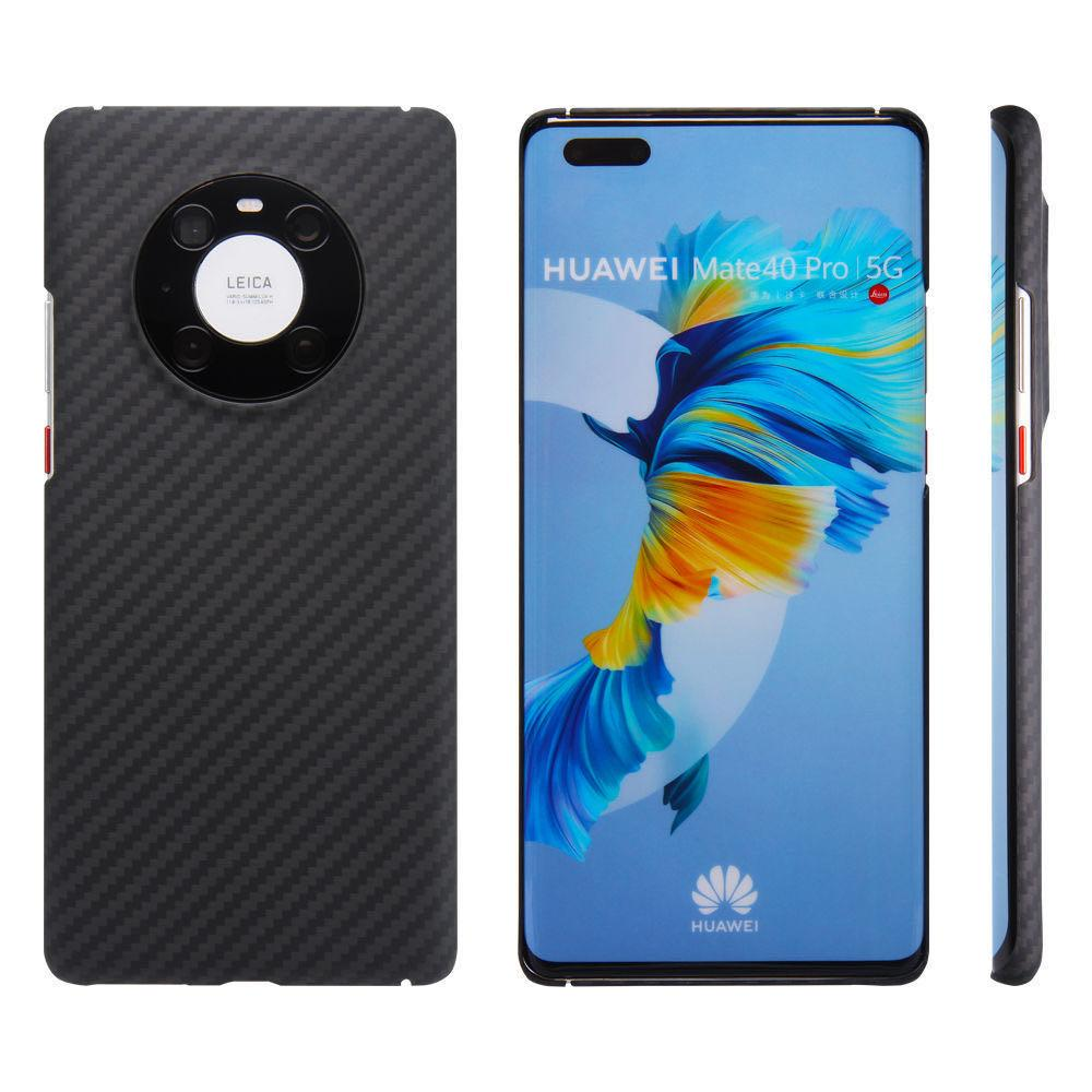 Nueva luanch caja del teléfono para Huawei compañero Max 40 P40 Pro fibra de aramida Anti-Huella digital Cubierta Pro