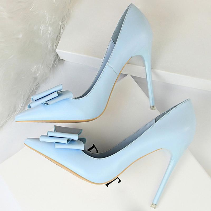 2020 Frau Fetisch High Heels Scarpins Schuhe Weibliche Fetisch Gelb, Blau, Rosa Escarpins Heels Talons Stiletto Brautpumpen