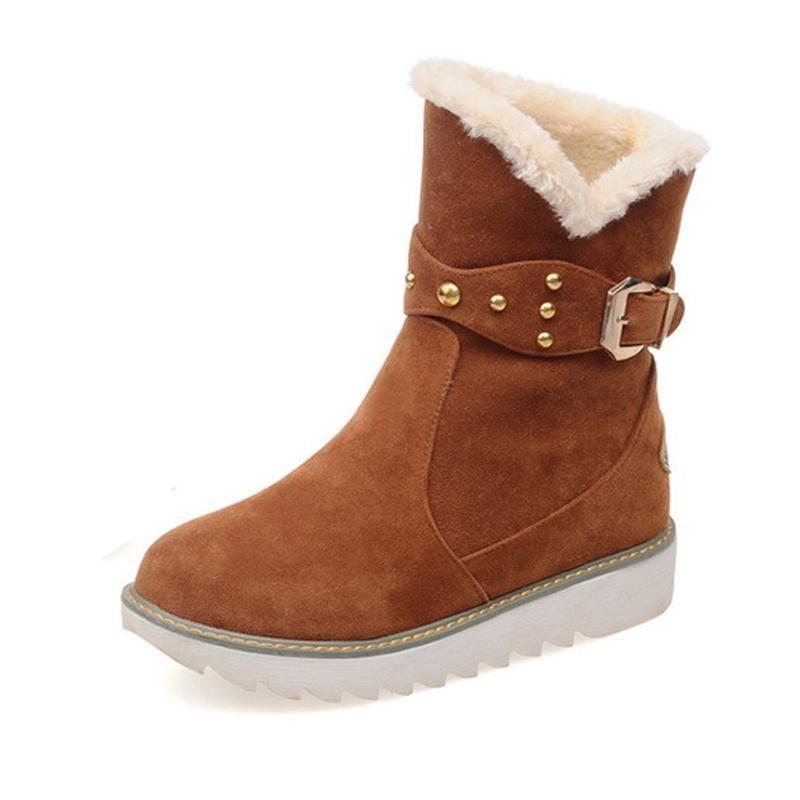 de las mujeres del invierno de la nieve Botas Tamaño más informal del tobillo cargadores calientes de las mujeres