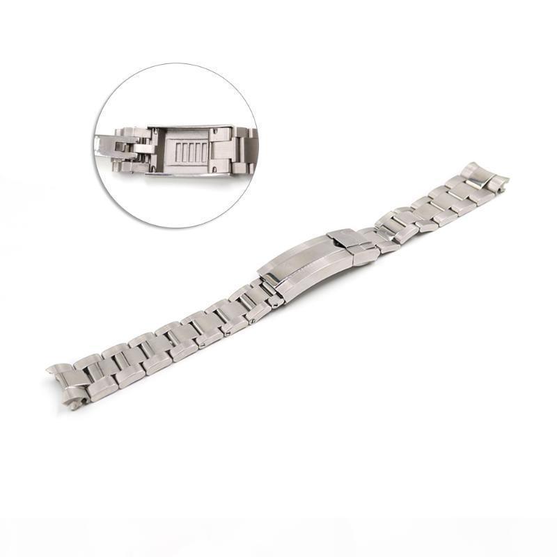 Carlywet 20mm Vis d'extrémité courbée Solide de 20 mm Liens de serrure de serrure Bracelet de montre en acier pour le style GMT Oyster