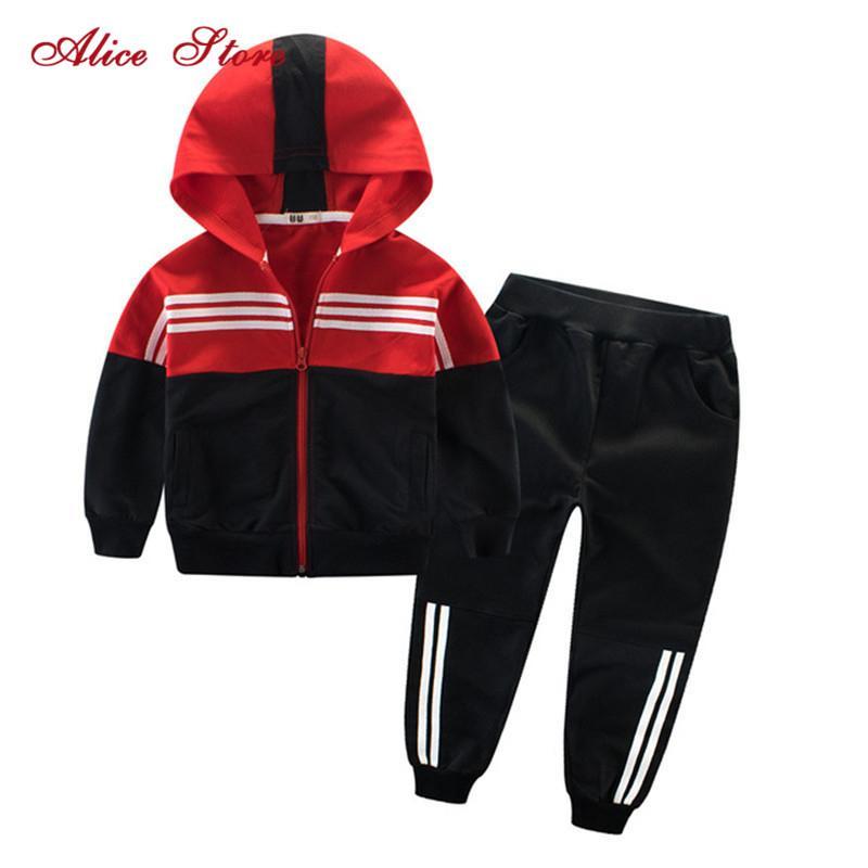Vêtements pour enfants Costume de sport pour les garçons et les filles capuche Outwears manches longues Pantalon unisexe manteau Set Survêtement Casual X0923