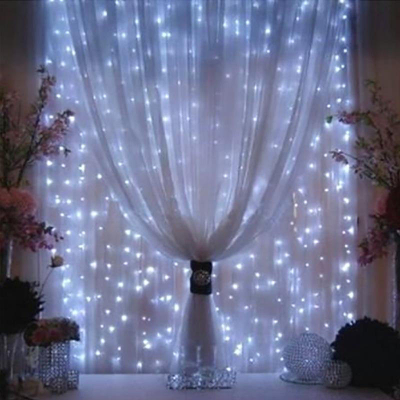 3mx3m LED Curtain Curtain String Luzes Fada Xmas Light 300 Luces Christmas String Light for Party Home Garland Feriado luzes Y200603
