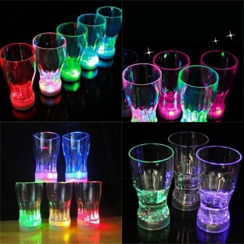 Luminescência Coque Cup Ktv Bar Luz Flash Colorido Colorido Canecas Primavera Festival Luminescente Descoloração Copos Nova Chegada 3 5AX2 L1
