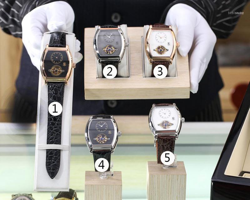Orologi da polso Designer orologi movimento automatico 42 * 13mm cinturino in pelle orologio orologio maschile alto natale festa regalo11
