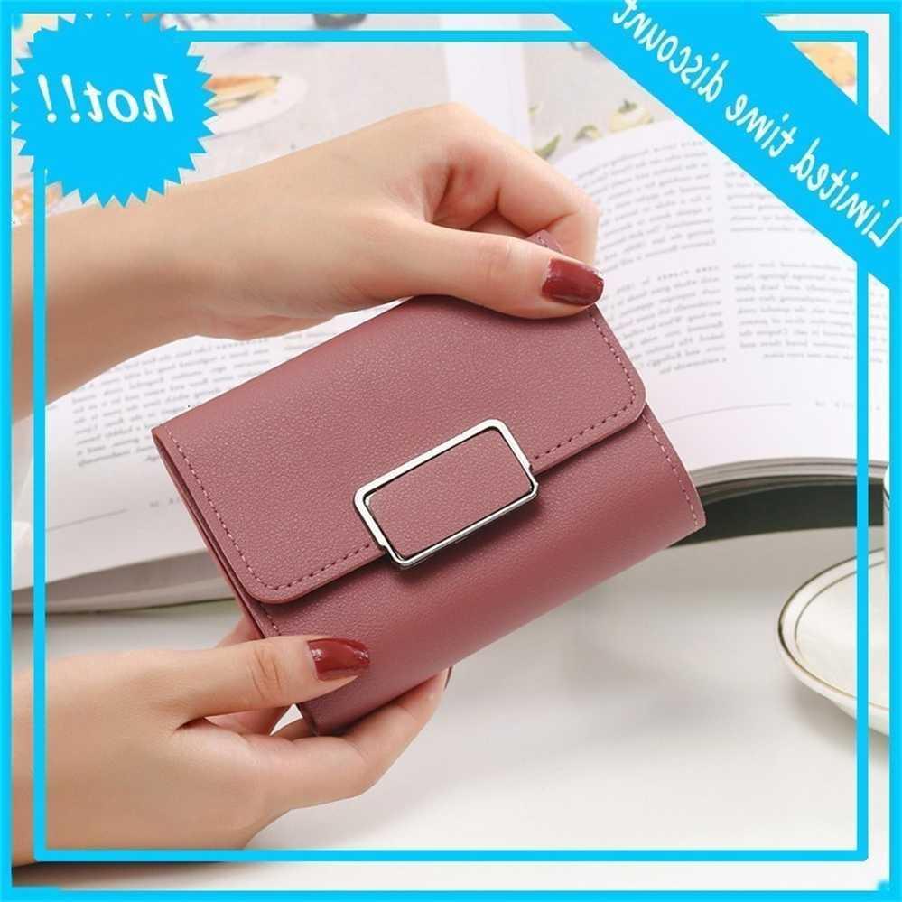 2020 новая мода маленькие женщины короткие студенты корейские хорошие кошельки мини многофункциональный складной карточный кошелек