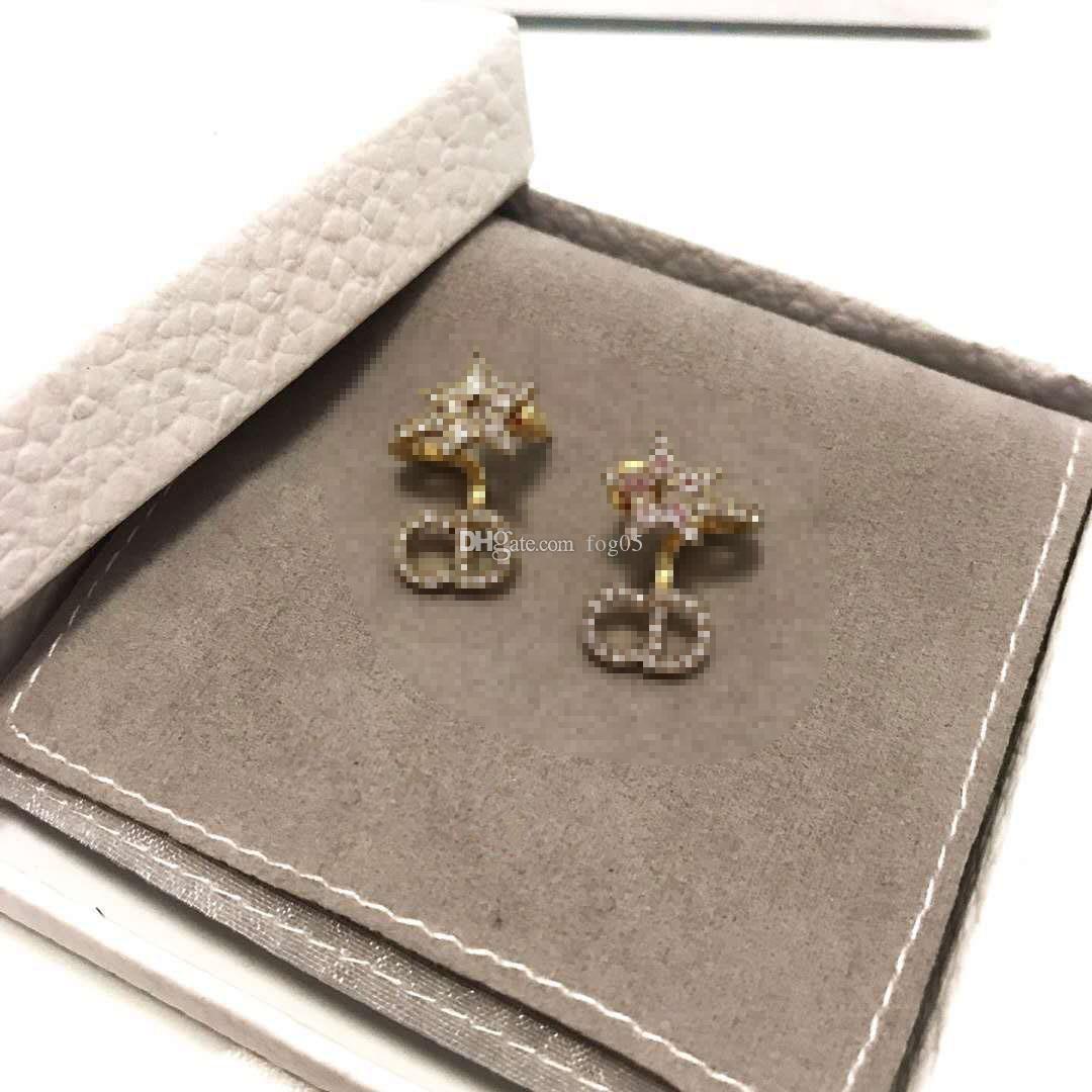 D casa 2020 Trendy clip moda dell'orecchio 925 delle donne ago d'argento dei monili di alta fine Replica Orecchini F7