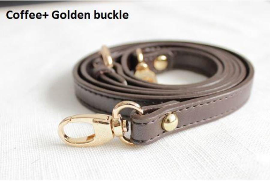 Sagrage de sac de luxe en cuir véritable 1.4 * 120cm Accessoires de sacs ajustables Hardware Gold Hardware Bandoulière Cuir réel